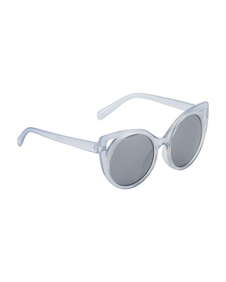 Molo Kids' Super Star Translucent Cat-Eye Sunglasses