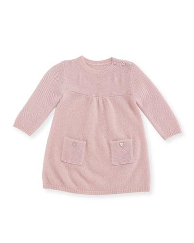 Links Cashmere Knit Dress, Size 3-18 Months