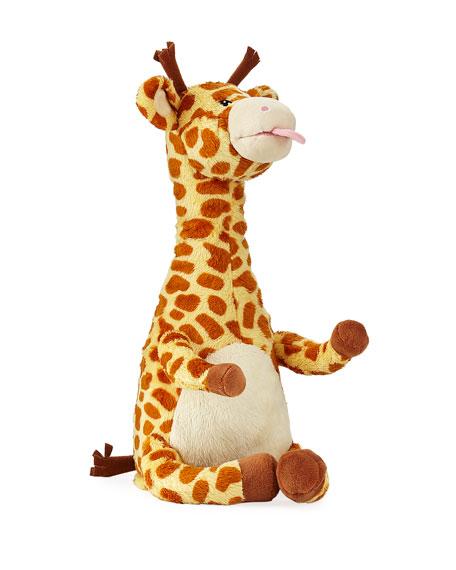 """Twisty Tongue Twister Giraffe Stuffed Animal, 13"""""""