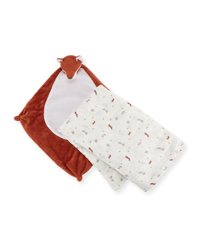 Take Me Home Fox Swaddle and Blankie Gift Set