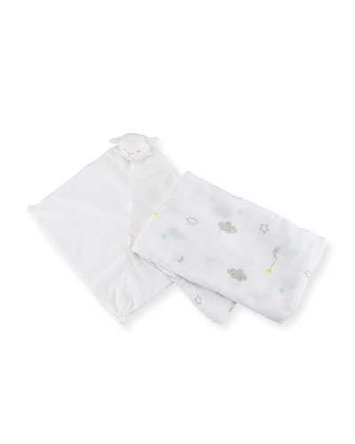 Take Me Home Starry Swaddle and Lamb Blankie Gift Set