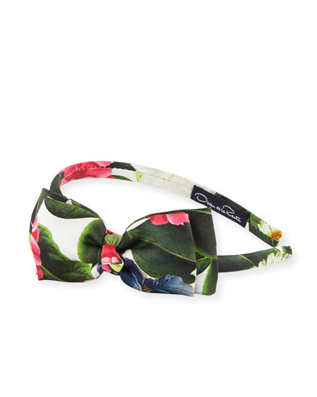 Girls' Mikado Flower Jungle Bow Headband