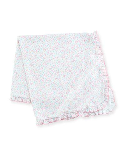 Dina Darlings Ruffle Pima Baby Blanket