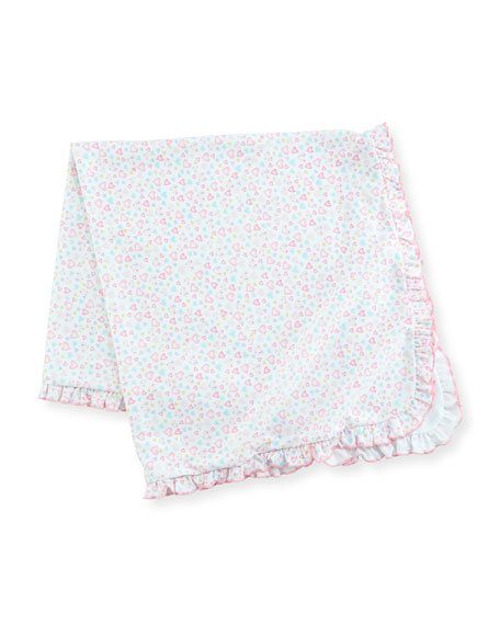 Dina Darlings Ruffle Pima Baby Blanket