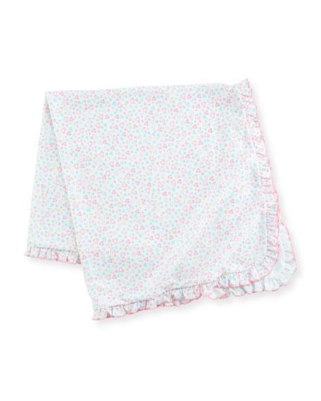 Kissy Kissy Dina Darlings Ruffle Pima Baby Blanket