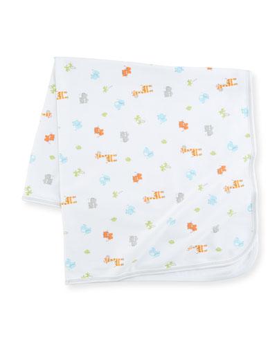 Safari Stroll Print Pima Baby Blanket