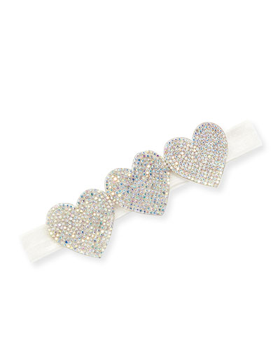 Girls' Crystal Hearts Headband
