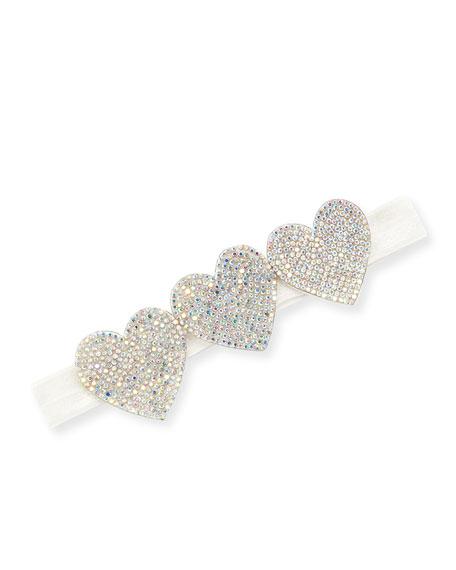 Girls' Crystal Hearts Headband