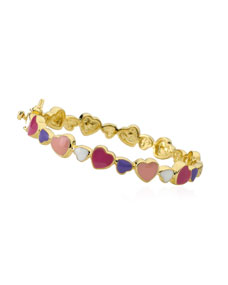 Girls' Multi Heart Enamel Bangle, Multi by Lmts