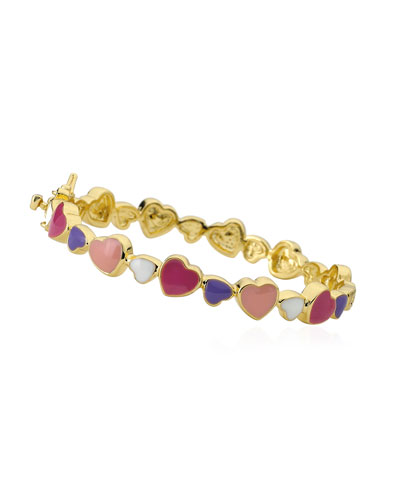 Girls' Multi Heart Enamel Bangle  Multi