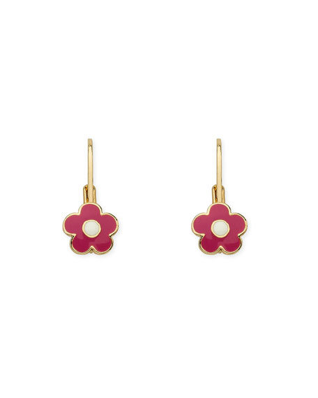 LMTS Girls' Enamel Flower Earrings