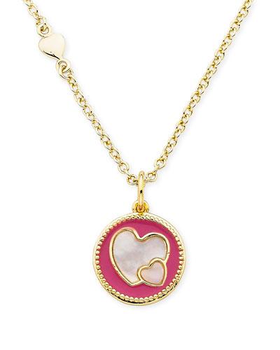 Girls' Heart Pendant Necklace  Hot Pink