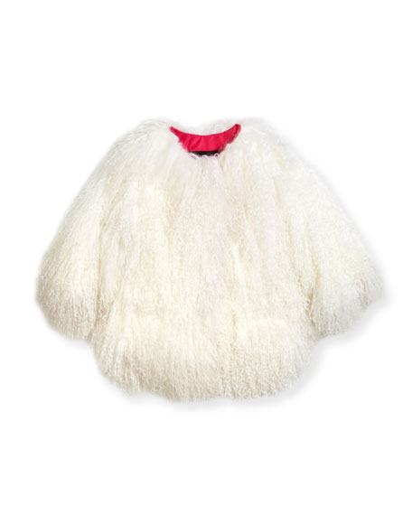 Adrienne Landau Lamb Fur Jacket, Size 2T-12Y