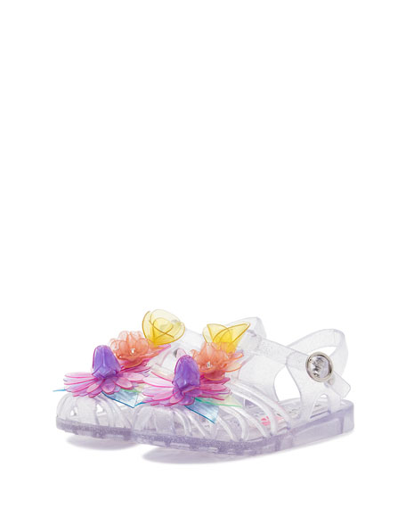 Lilico Glittered Jelly Flower Sandal, Toddler/Youth