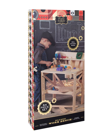 Toy Wood Workbench, Large