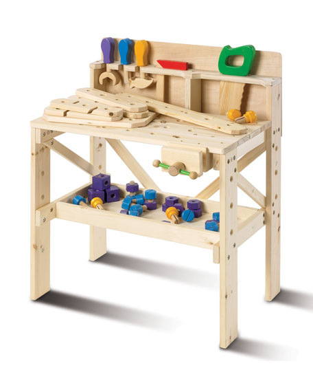 Toy Wood Workbench, Large
