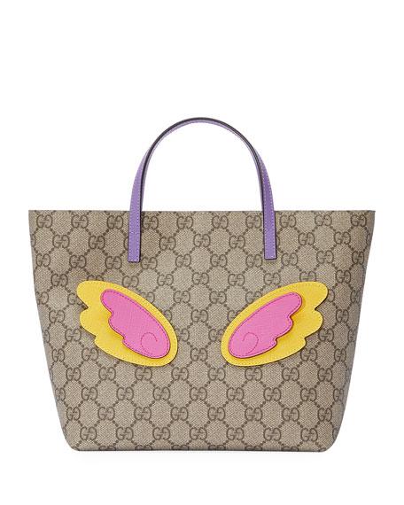 Girls' GG Supreme Unicorn Tote Bag, Beige