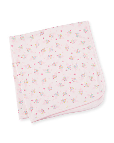 Cherry on Top Printed Pima Baby Blanket