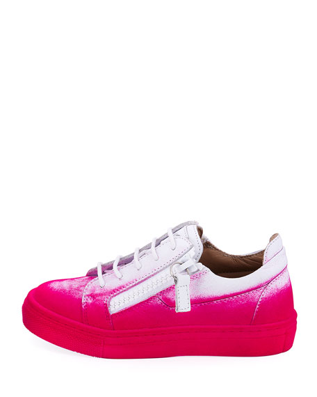 Smuggy Graffiti-Print Leather Sneaker, Toddler 1