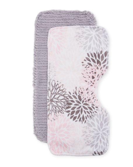 Blooms Burp Cloth Set, Pink