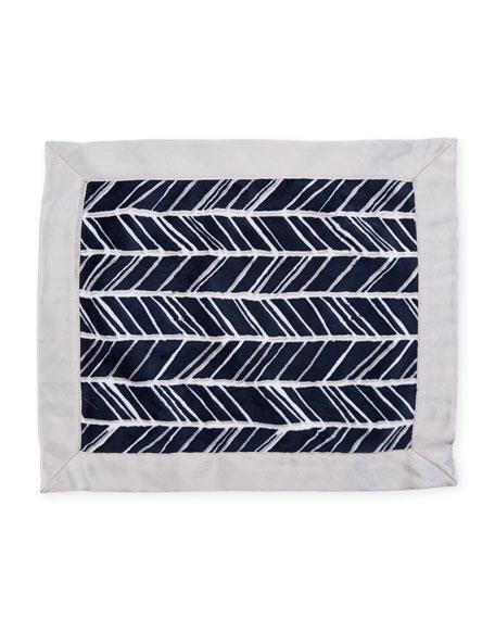 Herringbone Security Blanket, Navy