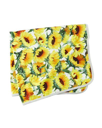 Neala Sunflower Baby Blanket