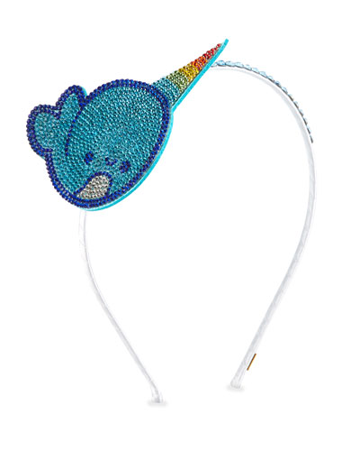 Girls' Crystal Narwhal Headband