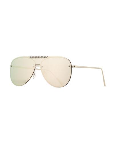 Girls' Mirrored Aviator Sunglasses