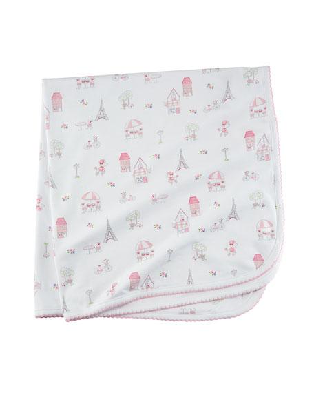 Kissy Kissy Parisian Stroll Pima Baby Blanket