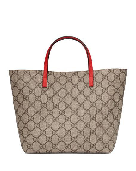 239366d3b0b Gucci GG Supreme Canvas Tote Bag w  Rainbow Bow