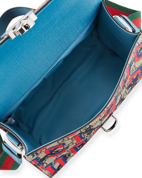 dc6d37d9d32 Gucci Kids  Wolves-Print GG Supreme Top-Handle Flap Bag