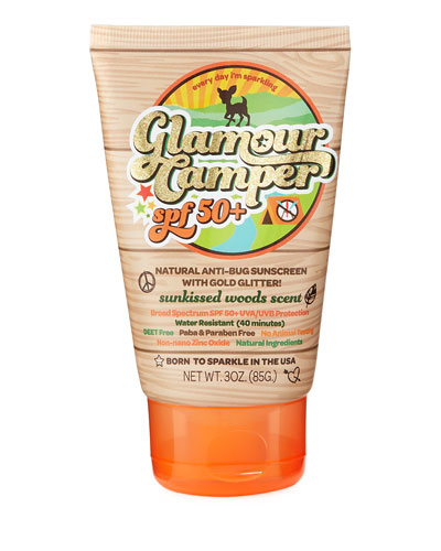 Glamour Camper SPF 50+ Anti-Bug Sunscreen with Glitter
