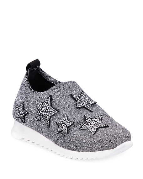 Natalie Sparkle Star Sneakers, Toddler Sizes 4-9
