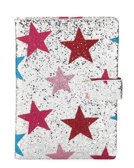 Bari Lynn Girls' Glittered Star Notebook