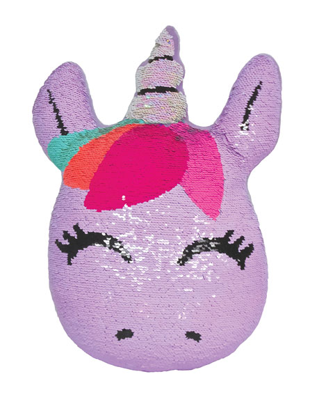 Kids' Sequin Unicorn Pillow