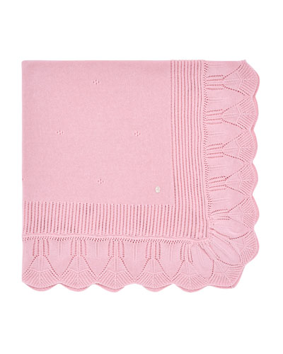 Ruffle-Trim Knit Baby Blanket