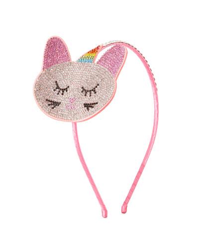 Girls' Crystal Cat-Unicorn Headband
