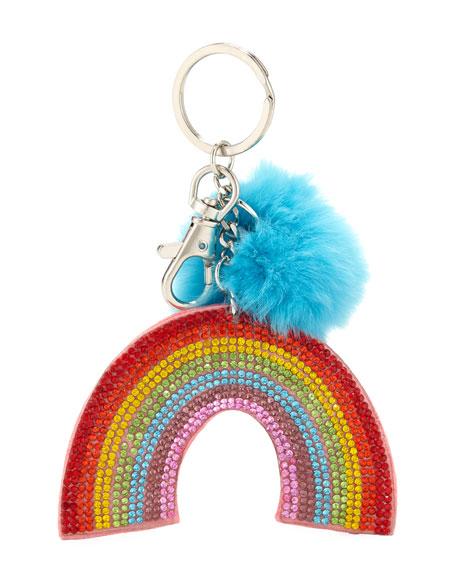 Bari Lynn Girls' Crystal Rainbow Key Chain w/