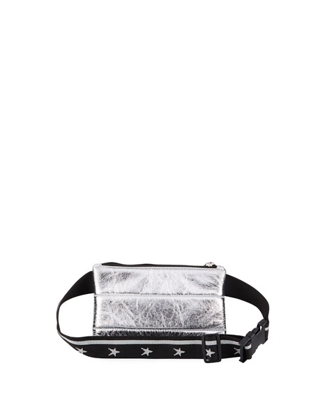 Girls' Metallic Faux-Leather Belt Bag