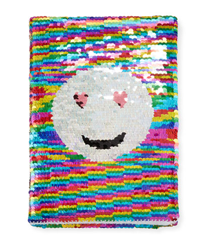 Smiley Face Flip Sequin Journal