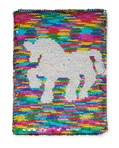 Rainbow Unicorn Flip Sequin Journal