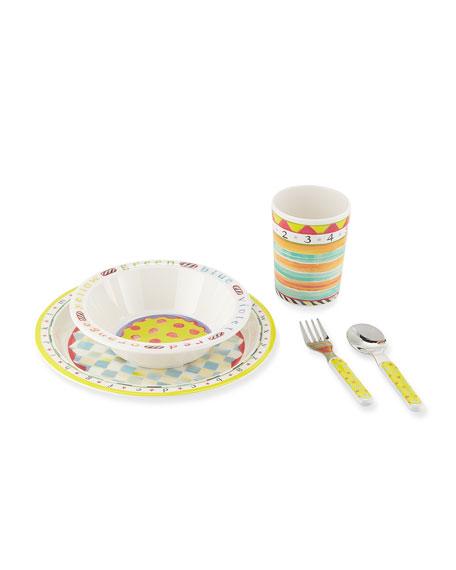 MacKenzie-Childs Kids' ABC Starter Dinnerware Set