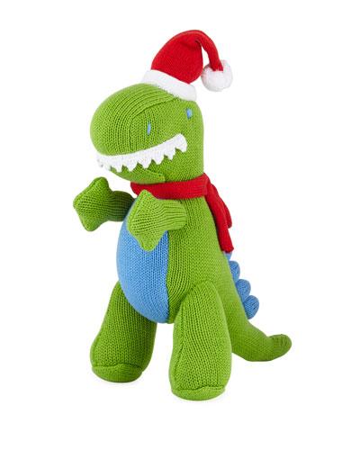 Knit Christmas T-Rex Doll  12