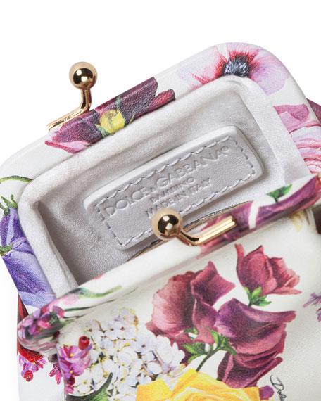 Kids' Floral Calf Leather Shoulder Bag
