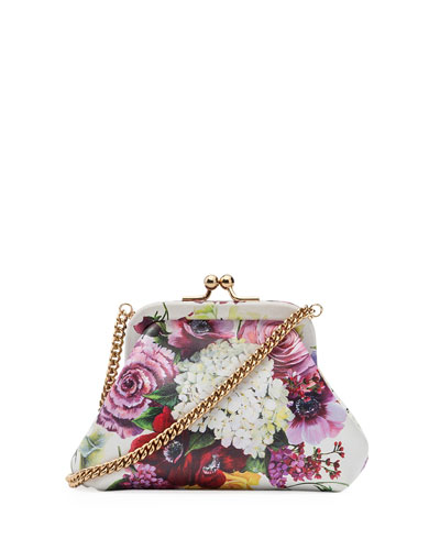 Kids' Floral Calf Leather Shoulder Bag