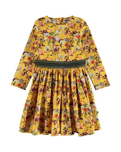 Christin Floral Long-Sleeve Dress  Size 2T-14