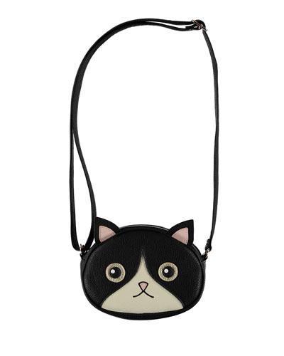 Girls' Kitty Face Crossbody Bag