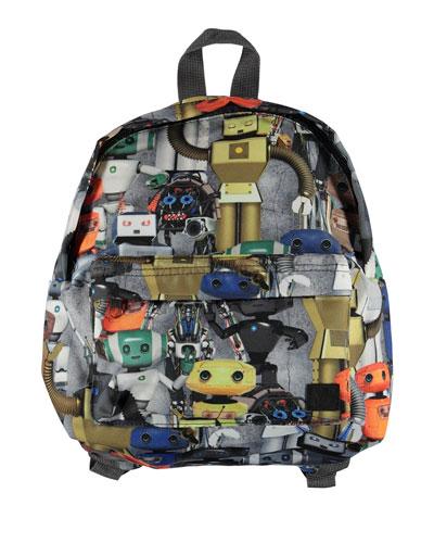 Kids' Robot-Print Backpack