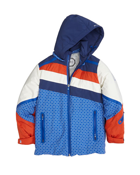 Colorblock Hooded Ski Jacket, Size 10-14