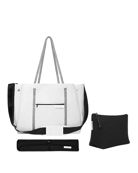 The Mumset 3-Piece Baby Bag Set, White/Black